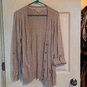 Brown cardigan; Sonoma; Size L